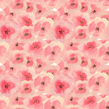 Seamless pattern with beautiful watercolor flowers. Seamless pattern with beautiful pink watercolor flowers Royalty Free Stock Image