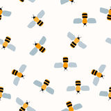 Seamless Pattern. Bee. Background Design Royalty Free Stock Photo
