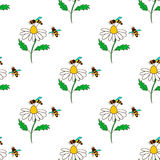 Seamless pattern with bee - 4 Stock Photos