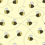Seamless pattern - bee Royalty Free Stock Image