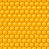 Seamless pattern with bee honeycombs and honey Stock Photo