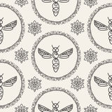 Seamless pattern with Bee Royalty Free Stock Photography