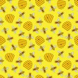 Seamless pattern beekeeping. Motley seamless pattern of beekeeping. Vector illustration Royalty Free Illustration
