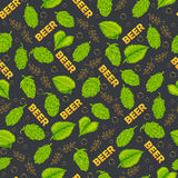 Seamless pattern on a beer drink theme. Vector illustration Royalty Free Stock Photography