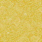 Seamless pattern with beetles, butterflies, grasshoppers and flowers in vintage style on yellow background Stock Photography
