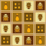 Seamless pattern with beetles Royalty Free Stock Photo