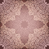 Seamless pattern with beige floral mandala. Vintage decorative elements. Vector ornament ,intricate tracery, lacy background Royalty Free Stock Images