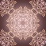 Seamless pattern with beige floral mandala. Vintage decorative elements. Vector ornament ,intricate tracery, lacy background Royalty Free Stock Image