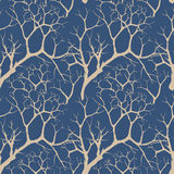 Seamless pattern with beige floral motif Royalty Free Stock Photos