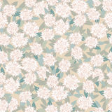 Seamless pattern with beige floral theme Stock Photos
