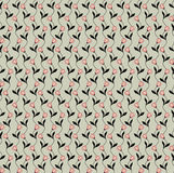 Seamless pattern with beige floral theme Stock Image