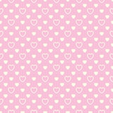 Seamless pattern with beige hearts on pink background Royalty Free Stock Photo