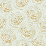 Seamless pattern with beige roses. Light seamless pattern with beige roses Stock Images