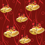 Seamless pattern from  bells Stock Images