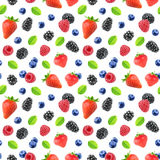 Seamless pattern with berries Royalty Free Stock Photography