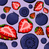 Seamless pattern with berries Stock Photo