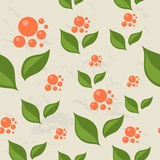 Seamless pattern with berries and leaves. Stock Images