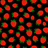 Seamless pattern with berries stock photos