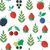 Seamless pattern with berries. Vector background. Seamless pattern with fresh berries. Vector background royalty free illustration