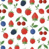 Seamless pattern with berries. Vector background. Seamless pattern with fresh berries. Vector background vector illustration