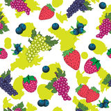 Seamless pattern of berry Stock Photo