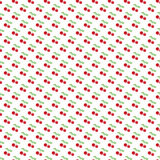 Seamless pattern with berry cherry. Endless Stock Image