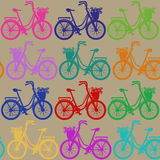 Seamless pattern of bicycles Stock Photography