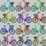 Seamless pattern of bicycles Royalty Free Stock Photography