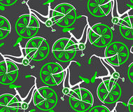 Seamless  pattern with bicycles Royalty Free Stock Image