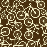 Seamless pattern of bicycles Royalty Free Stock Images