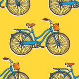 Seamless pattern with bicycles Royalty Free Stock Photos
