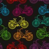 Seamless pattern with bicycles Royalty Free Stock Photography