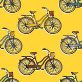 Seamless pattern with  bicycles Stock Image