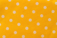 Seamless pattern with big white polka dots on a sunny yellow use Royalty Free Stock Photos