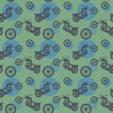 Seamless pattern, bikers theme Stock Photography