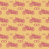 Seamless pattern, bikers theme Royalty Free Stock Image