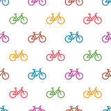 Seamless pattern with bikes Stock Images