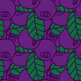 Seamless pattern of bilberries or blueberries Stock Image