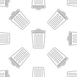Seamless pattern with bin Stock Image