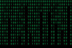 Seamless pattern with binary code Royalty Free Stock Image