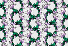 Seamless pattern with bindweed Royalty Free Stock Photography