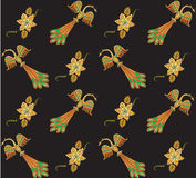 seamless pattern with bird and abstract flower Stock Photos