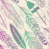 Seamless pattern of bird feathers Royalty Free Illustration