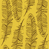 Seamless pattern of bird feathers Royalty Free Stock Image