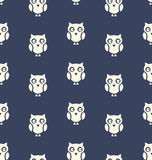 Seamless Pattern with Bird Owl for Halloween Stock Images