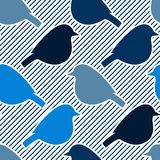 Seamless pattern with bird silhouettes. Royalty Free Stock Image