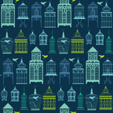Seamless pattern with birdcage. Seamless pattern with birdcage can be used as wedding background, fabric print, wrapping paper, web page backdrop, wallpaper Stock Image