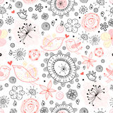 Seamless pattern of the birds Royalty Free Stock Photography