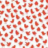 Seamless pattern with birds Stock Image