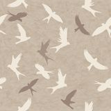 Seamless  pattern with  birds Royalty Free Stock Photo